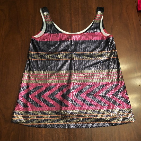 Charlotte Russe Tops - Sequined tank top - size medium